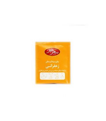چای سیاه کیسه ای زعفرانی