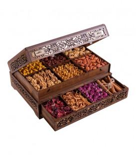 جعبه سلطنتی دوطبقه تک کشو