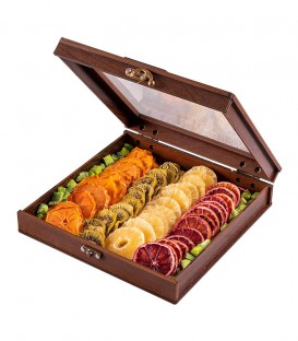 جعبه چوبی میوه خشک