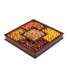 سینی چوبی مربع پنج قسمتی