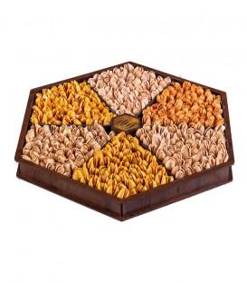 سینی چوبی شش ضلعی