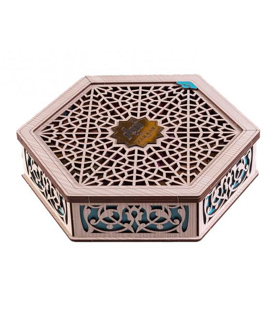 جعبه مشبک شش ضلعی سفید
