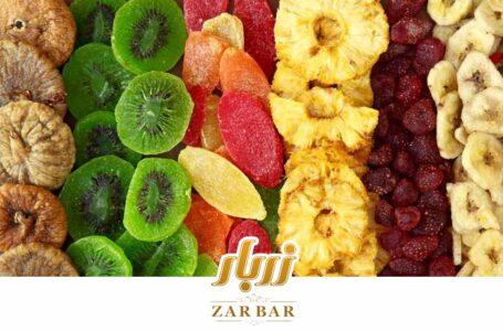 کالری انواع میوه خشک چقدر است؟